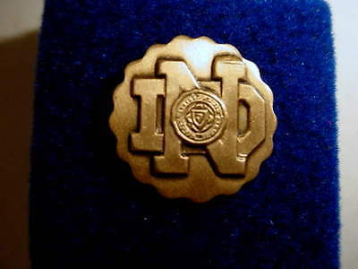 """Vintage Notre Dame Lapel Pin - Home of the """"Fighting Irish"""" Ant.Bronze Color"""