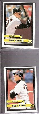 Lot of 6 MLB Panini San Francisco Giants Stickers Butler Mitchell Williams