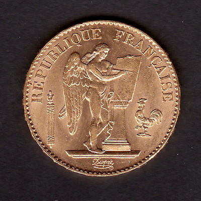 Rare QUALITE SPLENDIDE  20 Francs OR type Génie TOP Qualität Gold Münze
