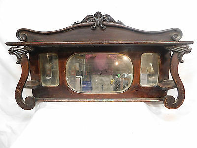 Antique Victorian Style Fireplace Mantel Top - C. 1885 Oak Architectural Salvage