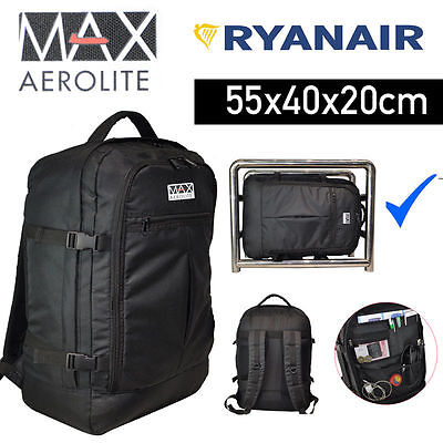 Aerolite Ryanair Max Carry On Cabin Hand Luggage Backpack Rucksack 55x40x20 44L