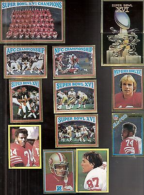 Lot of 18 1982 Topps San Francisco 49ers Super Bowl XVI Stickers - Montana Dean