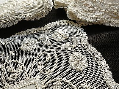 UNUSED Antique Brussels PRINCESS LACE 16 pc set PLACEMATS NAPKINS tags BELGIUM