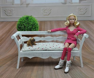 SPRING BENCH for POPPY PARKER FURNITURE FASHION ROYALTY BARBIEBJD Doll 1/6