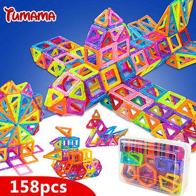 TUMAMA Mini 158pcs/lot Magnetic Building Blocks Toys Construction Model DIY 3...