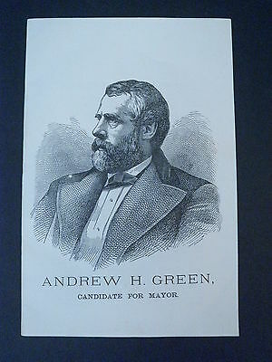 Andrew H. Green CANDIDATE FOR MAYOR New York City 1876 Election - RARE Pamphlet