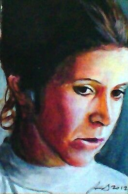 Princess Leia Star Wars Sketch Card By Sol Mohamed