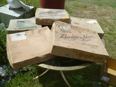 Vintage Department store box collection incl. Buckley & Nunn. Mantons, Foys