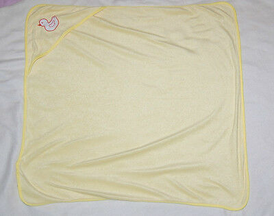 SWIGGLES cute yellow hooded baby toddler super soft duck boy or girl bath towel