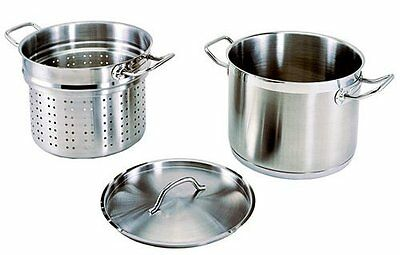 Update International SPSA-12 12 Qt Induction Ready Stainless Steel Pasta Cooker