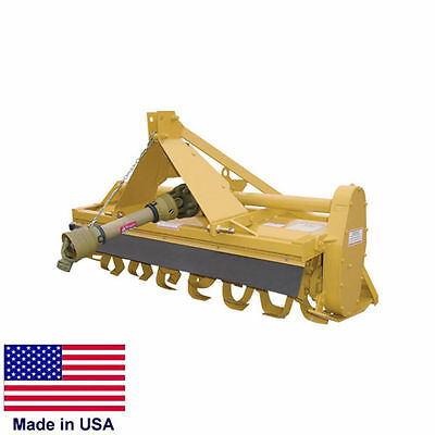 """ROTARY TILLER - 3 Point Hitch Mounted - PTO Drive - Cat I Hitches - 60"""" - 5 Ft"""