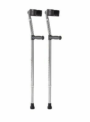 Medline Aluminum Forearm Crutches Adult