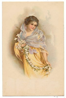 Rare Ellen Clapsaddle - Pretty Lady with Shawl, Lily Garland
