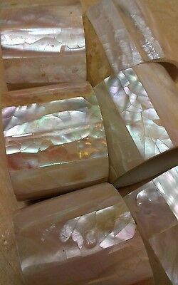 Set of 6x mother of pearl napkin rings