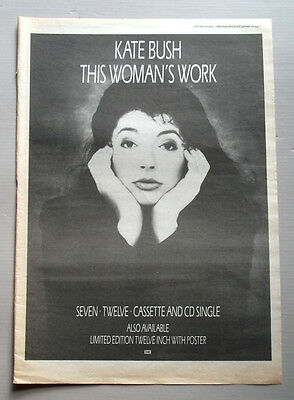 Kate Bush - This Woman's Work - 1989 Music Advert Poster 16 X 11.5 Ins