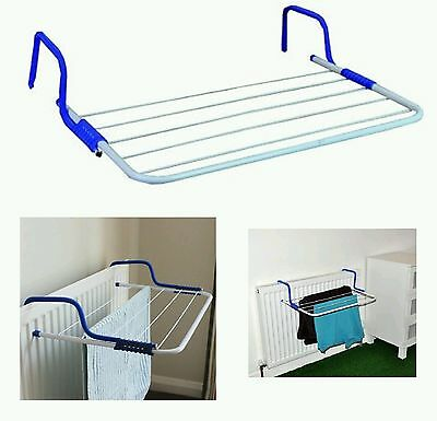 4 x 5 bars Folding Radiator Cloth Airer Rack Rail Clothes Laundry Dryer Camping