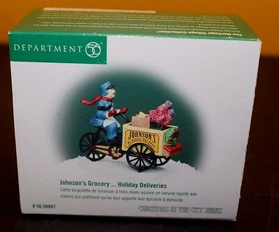Dept 56 CIC Christmas in City JOHNSON'S GROCERY HOLIDAY DELIVERIES - EC w/Box