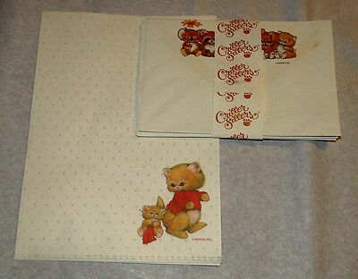 Vintage Montag Morgan Critters Sitters & Cats Stationery Sheets Envelope Letters