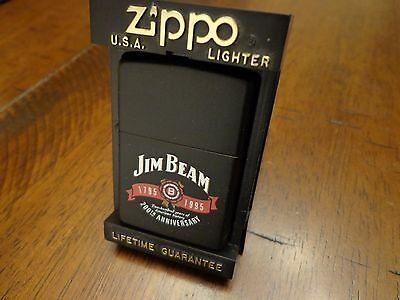 Jim Beam Whiskey Black Matte 200Th Anniversary Zippo Lighter Mint In Box