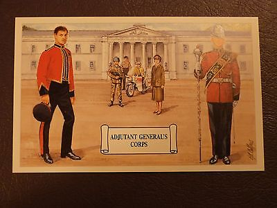 GEOFF WHITE Postcard 1996 New Regiments Adjutant General's Corps