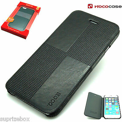Leather HOCO CRYSTAL FASHION Wallet Book case for APPLE iPHONE 6 6S - BLACK