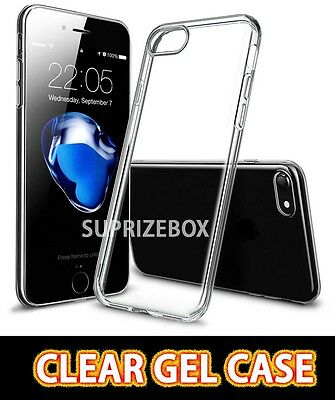 For New Apple iPhone 7 PLUS Ultra Slim 0.3mm Crystal Clear Gel Case Cover