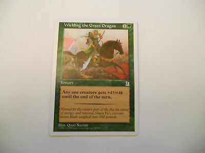 1x MTG Wielding the Green Dragon Magic EDH Portal Three Kingdoms P3K ING Inglese