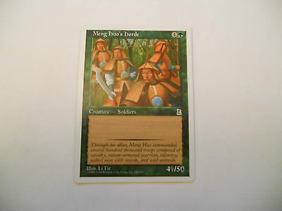 1x MTG Meng Huo's Horde Magic EDH Portal Three Kingdoms P3K ING Inglese x1