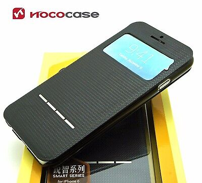 Leather HOCO SMART SERIES  Wallet Book case for APPLE iPHONE 6 6S- BLACK