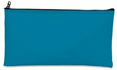MMF Industries Leatherette Zipper Wallet, 11 X 6 Inches, Mariner Blue