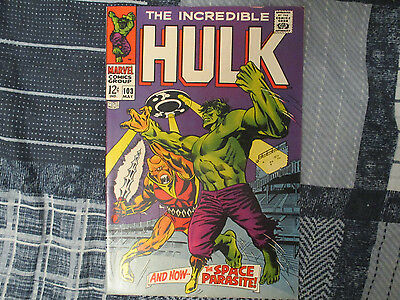 Incredible Hulk #103 (Marvel, May 1968) Severin Art! ~ 1st Space Parasite