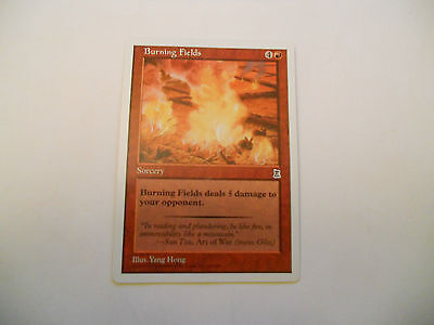1x MTG Burning Fields Magic EDH Portal Three Kingdoms P3K ING Inglese x1
