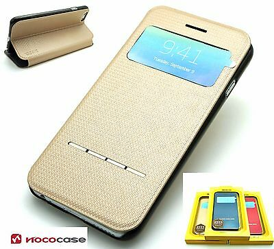 Leather HOCO SMART SERIES  Wallet Book case for APPLE iPHONE 6 6S- GOLD