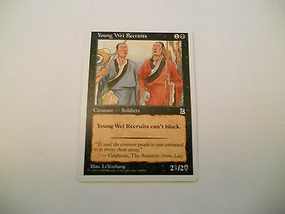 1x MTG Young Wei Recruits Magic EDH Portal Three Kingdoms P3K ING Inglese x1