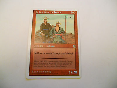 1x MTG Yellow Scarves Troops Magic EDH Portal Three Kingdoms P3K ING Inglese x1
