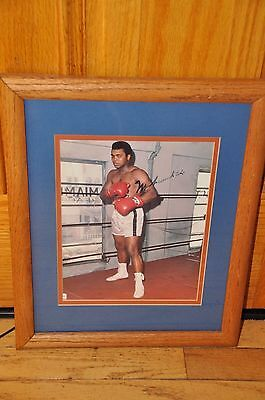 Muhammad Ali Hand Signed Autographed 8X10 Photo with Frame Authentic