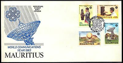 1983 Mauritius - World Communications Year - Fdc - Cover - J52