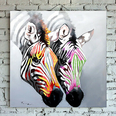 Hand-painted cute zebra modern abstract animal oil painting wall art home decor