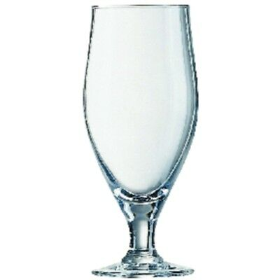 24x Arcoroc Stemmed Cervoise Beer Glasses 320ml Cocktail Wine Drinking Tumblers