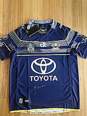 Nth Qld Cowboys Nrl Jersey Signed By Johnathan Thurston