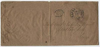 1861 Savannah GA Confederate Stampless Paid 10 Election Return Cover