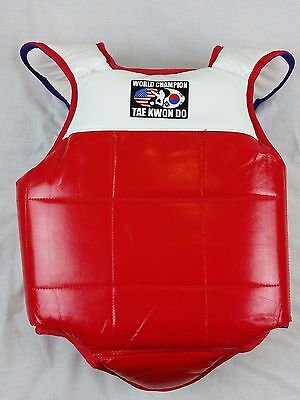 Karate Tae Kwon Do Chest Protector Body Guard Martial Arts Sparring Rd Wh Bl XL