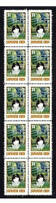 Japanese Chin 'mbf' Strip Of 10 Mint Dog Stamps 4