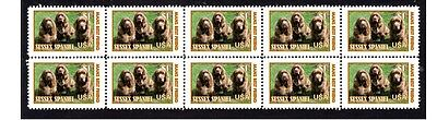 Sussex Spaniel Dog Strip Of 10 Mint Stamps #5