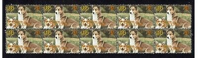 Welsh Corgi Strip Of 10 Mint Year Of The Dog Stamps 1