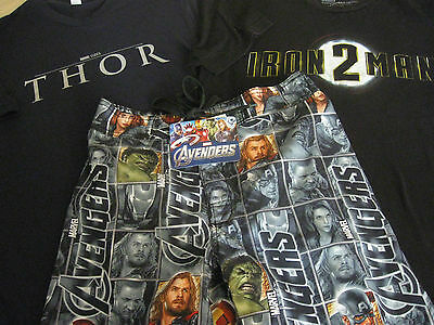 Marvel's The Avengers Items - Iron Man & Thor Promo Shirts & Avengers Trunks New