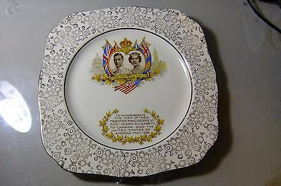 King George VI And Elizabeth Plate - Trip to the USA and Canada, 1939
