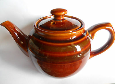 Vintage Small Brown Sadler Teapot; Pot Holds Two Cups Of Tea