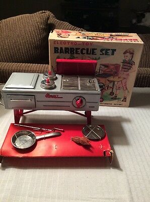 Nice Vintage Electro Toy Barbecue Set Battery Operated