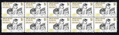 Alaskan Malamute Strip Of 10 Mint Year Of Dog Stamps
